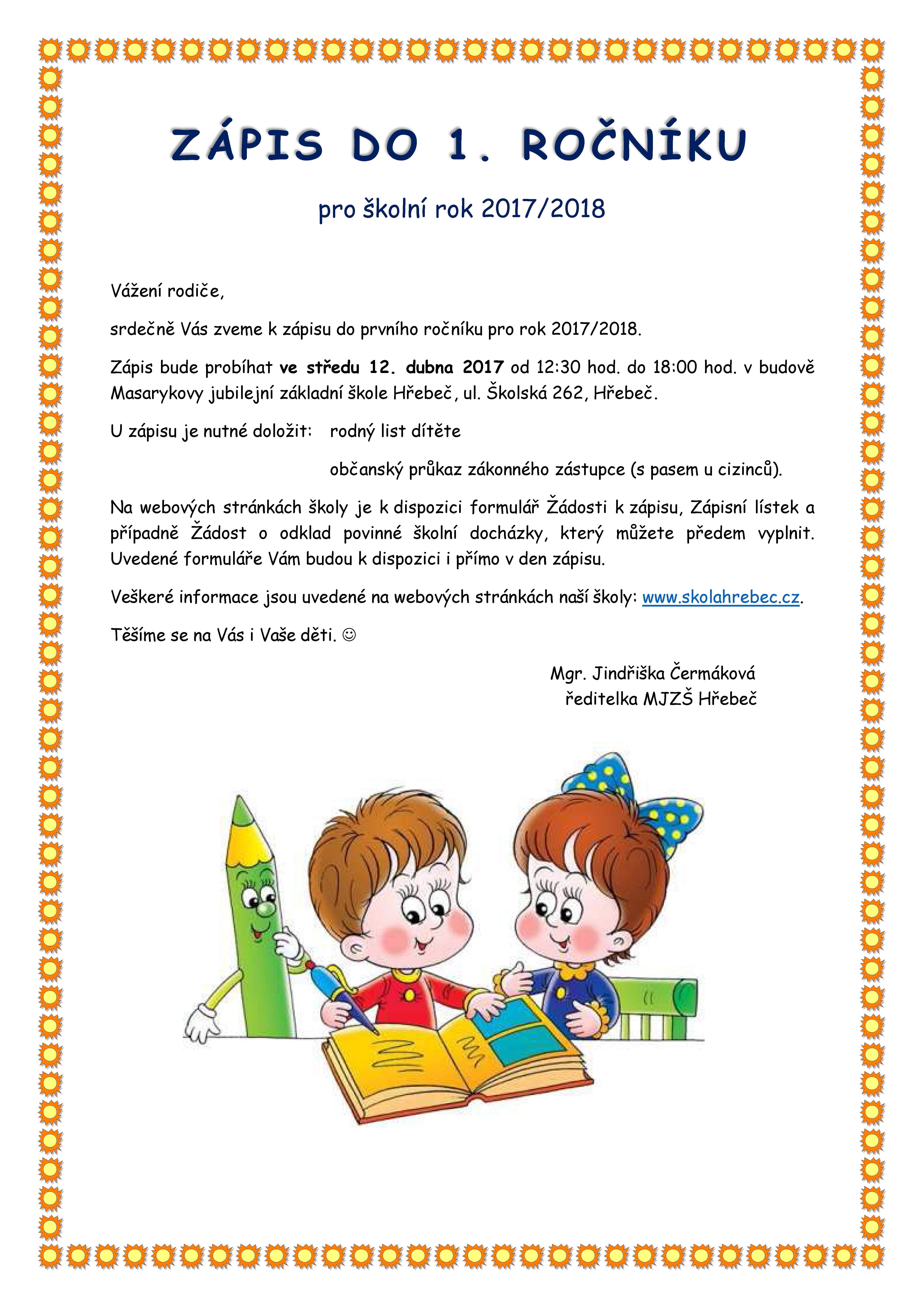 20170324 Zápis do 1.třídy 2017 2018