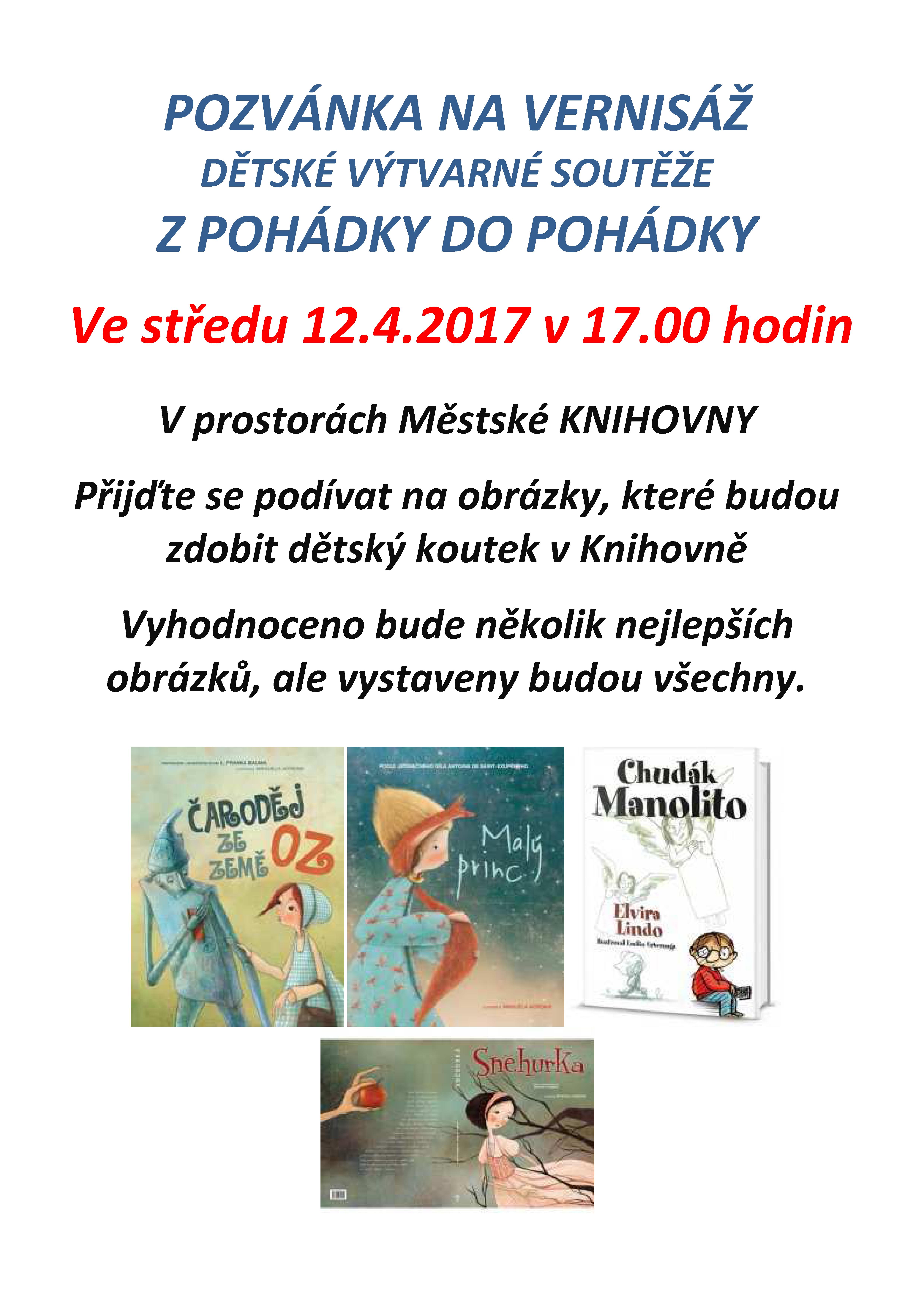 20170410 VERNISÁŽ Z POHÁDKY DO POHÁDKY 12.4.2017