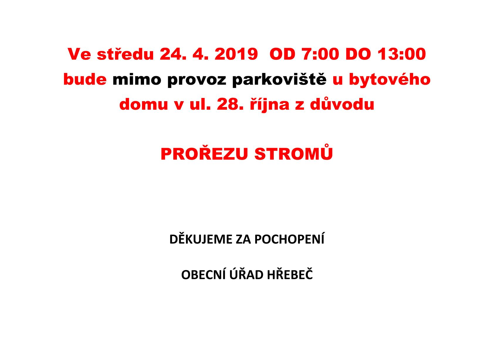 20190423 parkoviště